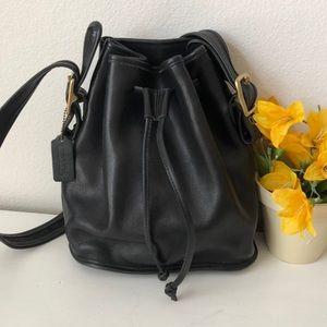 Coach vintage leather bucket bag
